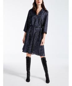 ピュア シルク ツイルプリント ドレス【送料無料】