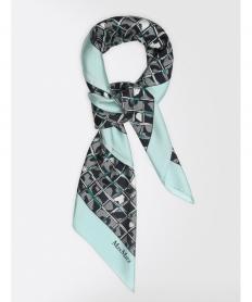 ピュア シルク ツイルプリント スカーフ【送料無料】