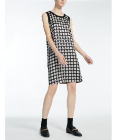 ピュア シルク ツイル プリント ドレス【送料無料】